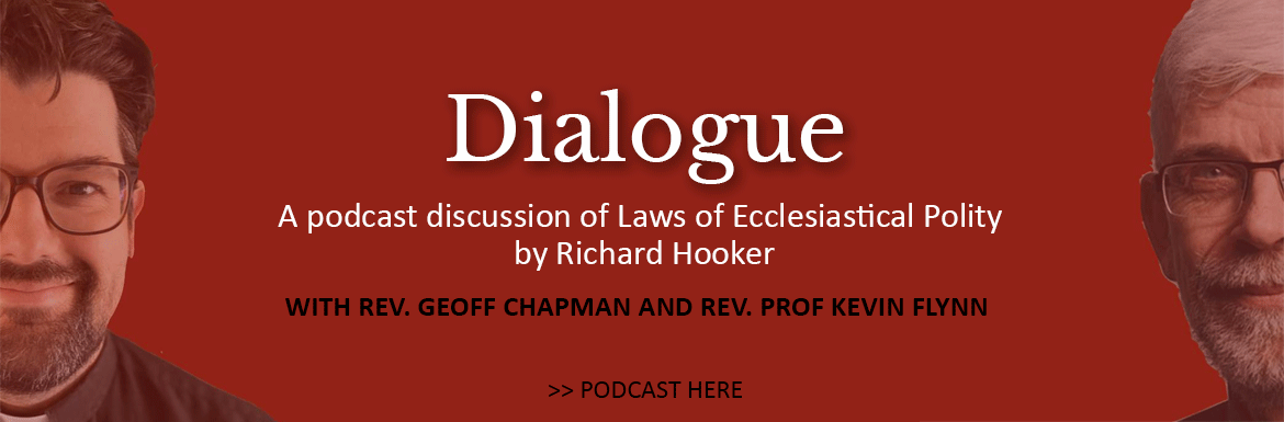 Join ReverendGeoff Chapman, Incumbent, and Reverend Professor Kevin Flynn, Honorary Assistant at St. Matthews Anglican Church, Ottawa, Ontario, in their podcast series Dialogue: A discussion of Laws of Ecclesiastical Polity by Richard Hooker. This work, originally published in 1594 and now available in a new English translation, is considered central to Anglican tradition and worship. Select this link to be taken to the series podcast page.